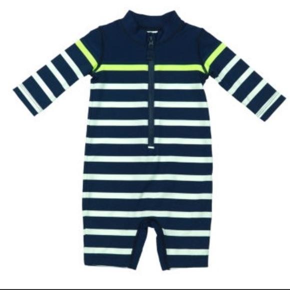 42349166a7 Carter's Swim   Carters One Piece Baby Boy Rashguard Suit 69   Poshmark